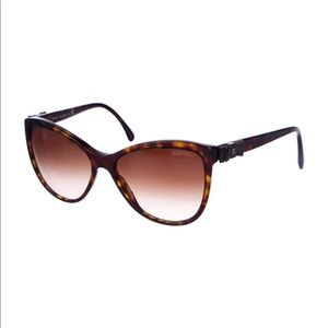 CHANEL Butterfly Bow Cat-Eye Sunglasses, EUC